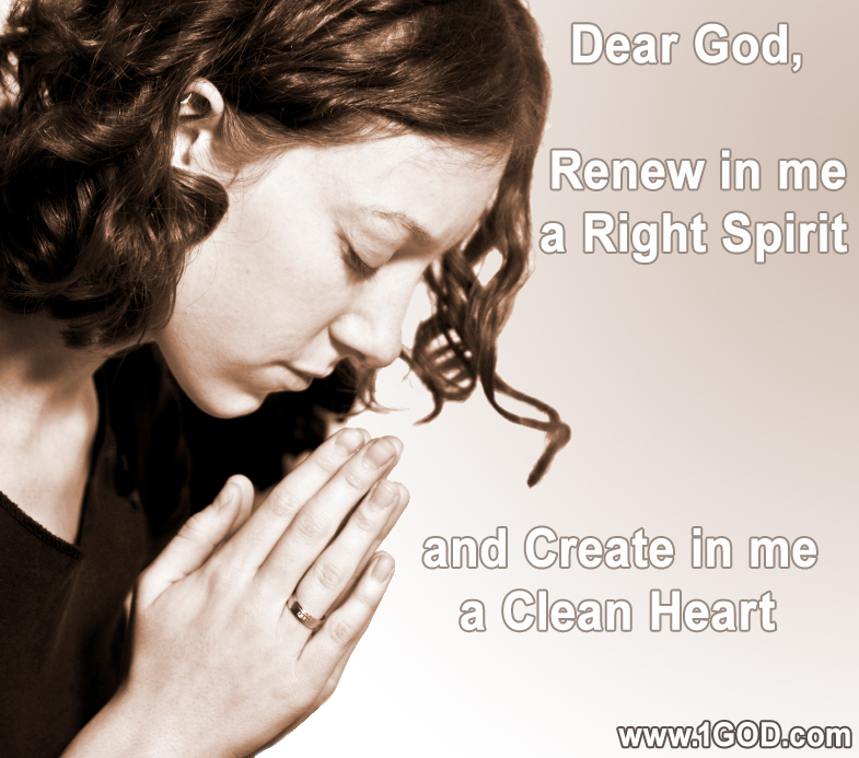 Renew in me a right spirit